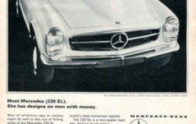 1965 Mercedes-Benz 230 SL Mainos