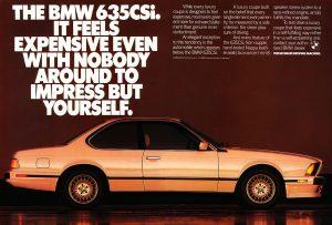 BMW e24 Mainos 635CSI