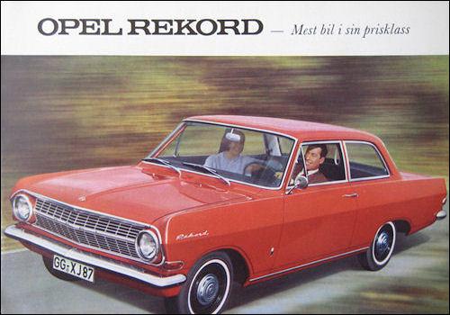 Opel-Rekord-A-1964-Mainos
