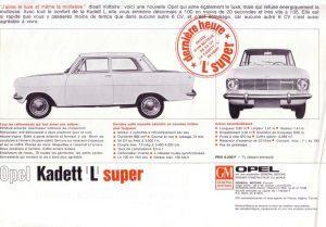 Opel Kadett L Super Tiedot